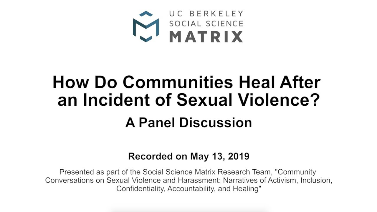 How Do Communities Heal After Sexual Violence