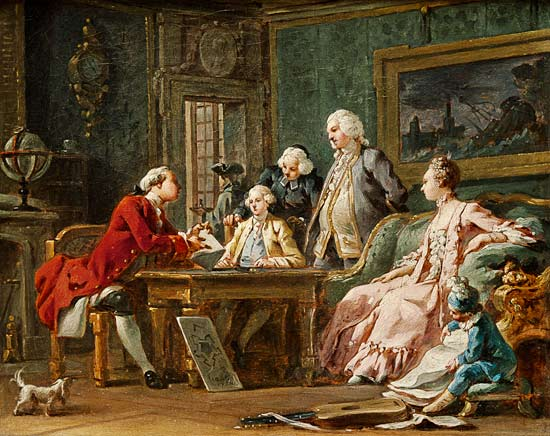 Noël_Hallé_-_the_education_of_the_rich_people