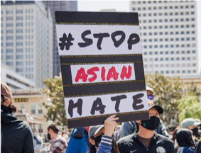 Stop Asian Hate protest sign